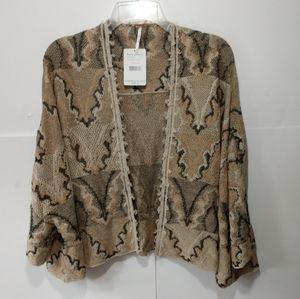 Free People NWT XS cardigan sweater open front fri